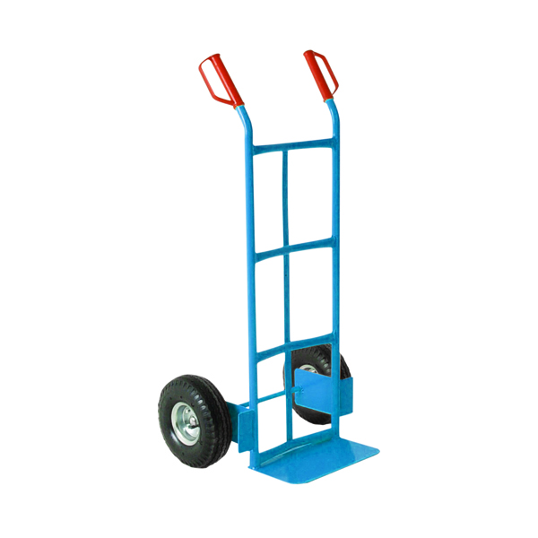 Traditional Tubular Hand Truck Capacity 100kg Blue 382070