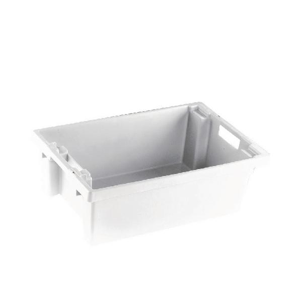 VFM White Solid Slide Stack/Nesting Container 32 Litre 382959