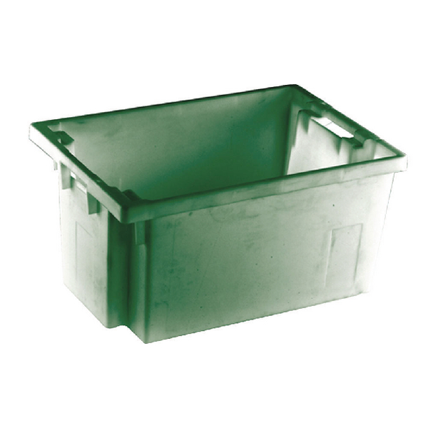 Solid Slide Stack/Nesting Container 600X400X300mm Green 382967