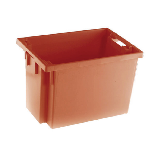 Solid Slide Stack/Nesting Container 600X400X400mm Red 382969