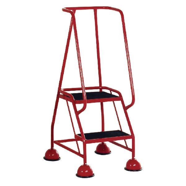 Red 2 Tread Tubular Steel Step 385131 (capacity of up to 125kg)