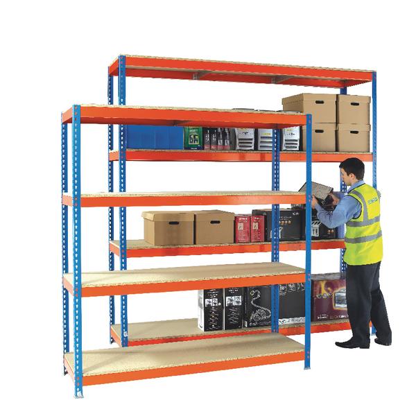 Image for Heavy Duty Painted Additional Shelf 1500x450mm Orange/Zinc 378850