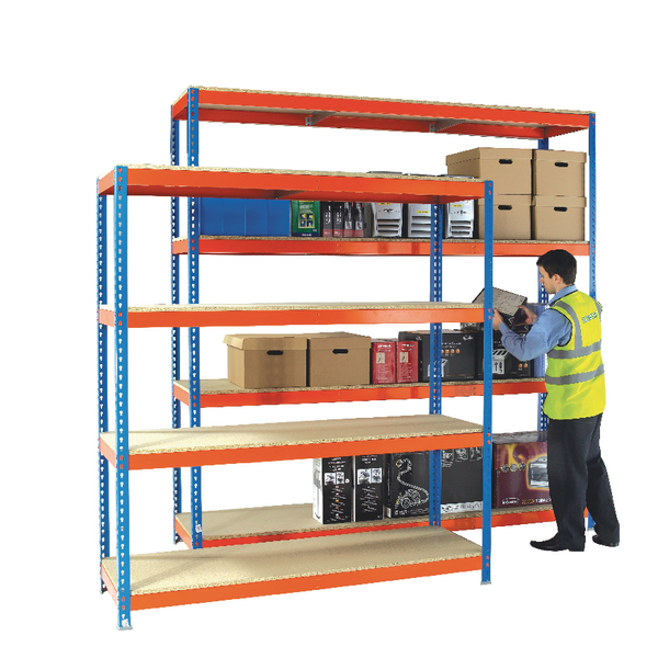 Image for Heavy Duty Painted Additional Shelf 1500x600mm Orange/Zinc 378853