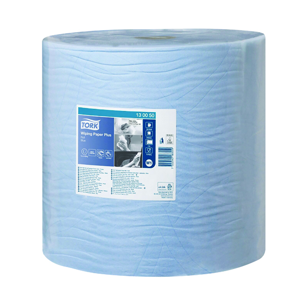 Tork W1 Wiping Paper Plus 2-Ply Blue 130050