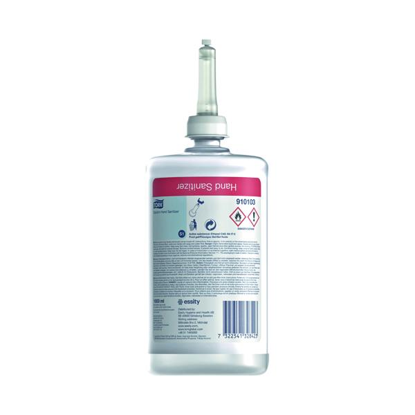 Tork Alcohol Hand Sanitiser Cartridge 1L (Pack of 6) 910103