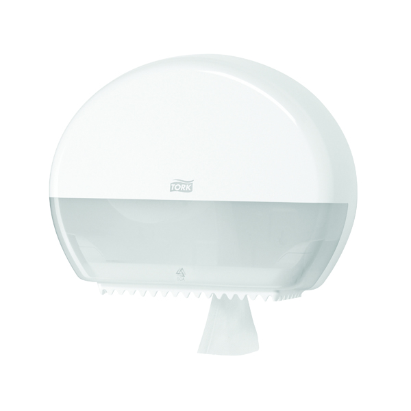 Tork T2 Mini Jumbo Toilet Roll Dispenser White 555000