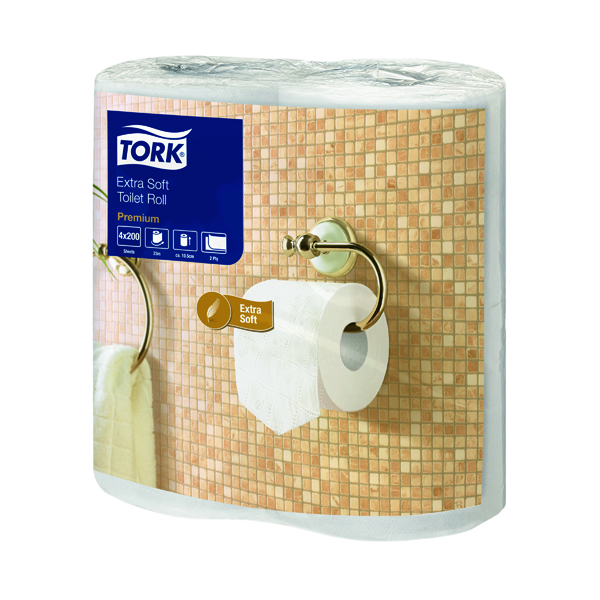 Tork Extra Soft Toilet Roll White 200 Sheet 2-Ply (Pack of 40) 120240