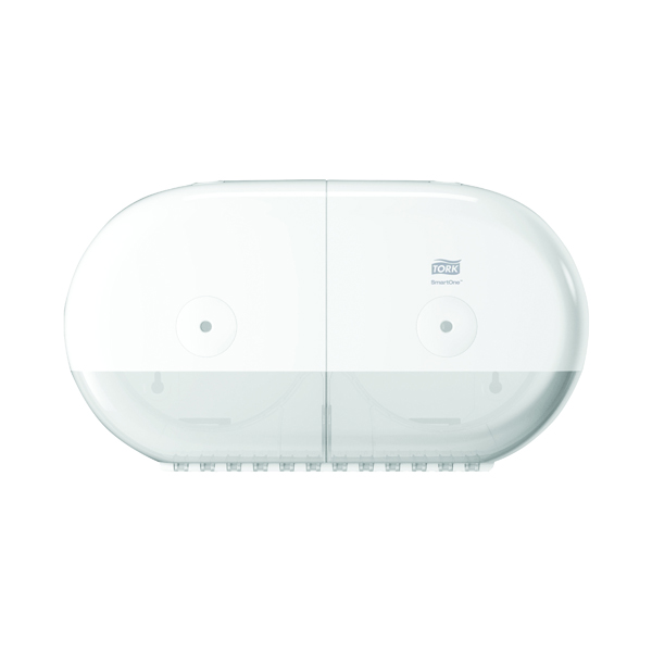 Tork T9 SmartOne Twin Mini Toilet Paper Dispenser White 682000