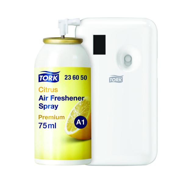 Tork Citrus Air Freshener Spray Refill 75ml (Pack of 12) Buy 1 Pack Get FOC Dispenser