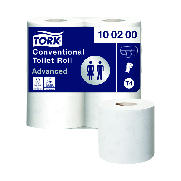 Tork Conventional Toilet Roll 2-Ply 200 Sheets (Pack of 36) 100200