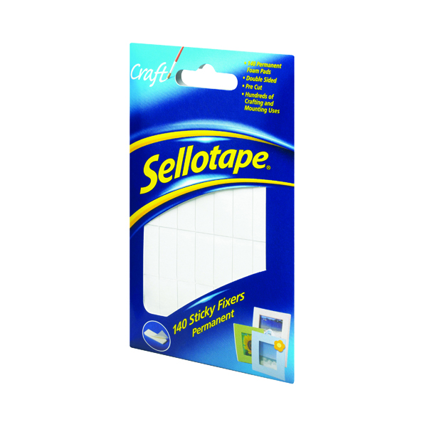 Image for Sellotape Sticky Fixers Permanent 12x25mm (Pack of 140) 1445422