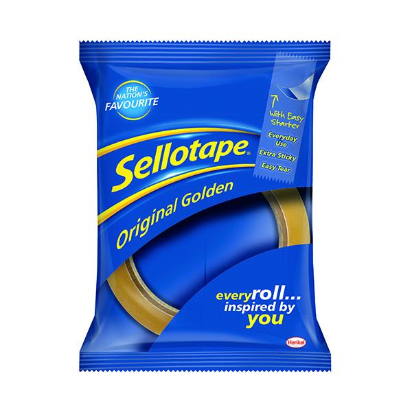 Sellotape Original Golden Tape 24mmx50m (Pack of 12) 1682926