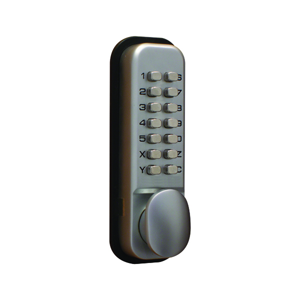 Image for Lockit Mechanical Push Button Digital Lock Chrome DXLOCKITHB/C
