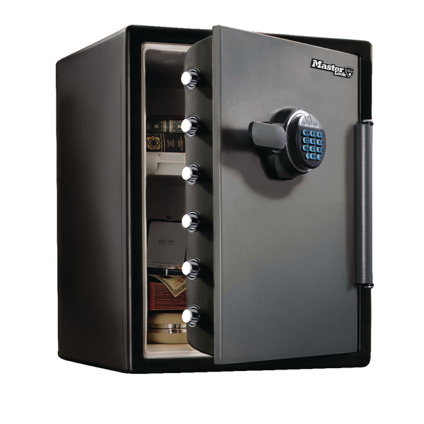 Image for Master Lock Fire-Safe Water Resistant Safe Electronic Lock 56 Litres LFW205FYC