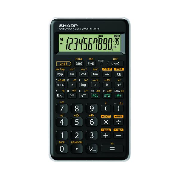 Sharp EL501T Entry Level Scientific Calculator EL501TBWH
