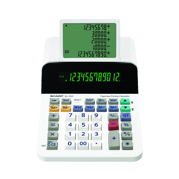 Sharp EL1501 Paperless Printing Calculator EL1501