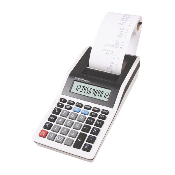 Rebell PDC10 WB Printing Calculator RE-PDC10 WB
