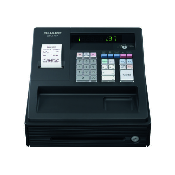 Sharp XE-A137 Cash Register Black XEA137BK