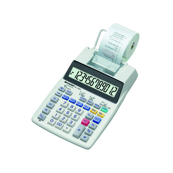 Sharp Printing Calculator (12 Digit LCD Display) EL1750V