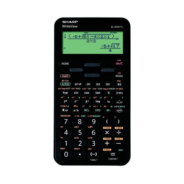 Sharp EL-W5531 Scientific Calculator Black  EL-W531TL BBK