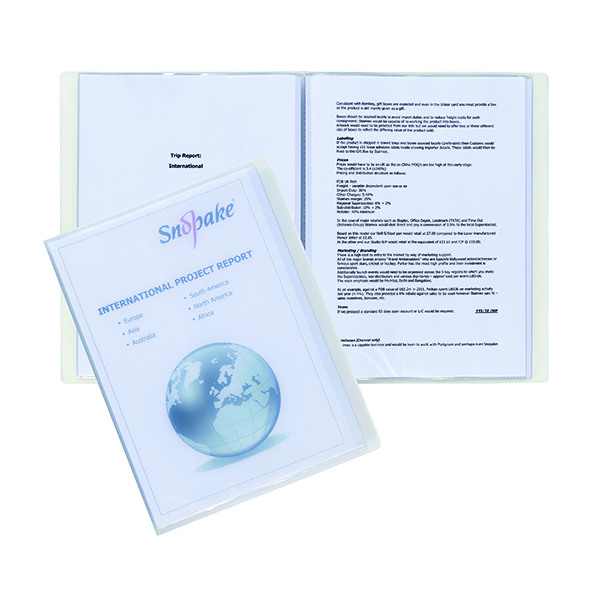 Snopake Superline Presentation Book 10 Pocket A4 Clear 11904