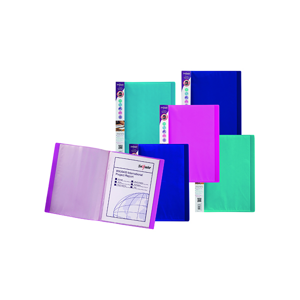 Snopake Electra Display Book 24 Pocket A4 Assorted (Pack of 10) 12219