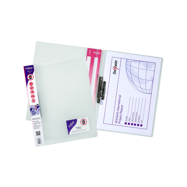 Image for 10 x Snopake ClampBinder A4 Clear (Holds up to 100 sheets of 80gsm paper) 12772