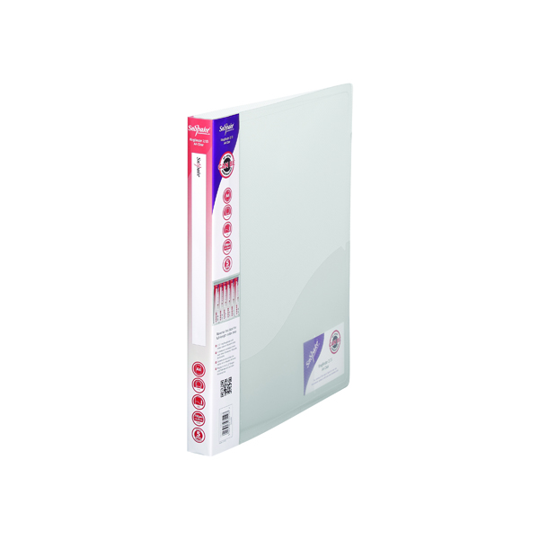 Snopake 2 Ring Ring Binder 15mm A4 Clear (Pack of 10) 10119