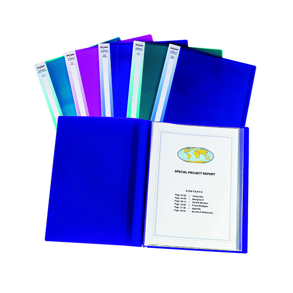 Snopake Display Book 24 Pocket A3 Electra Assorted (Pack of 5) 14103
