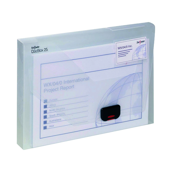 Snopake Document Box 25mm A4 Clear 12849