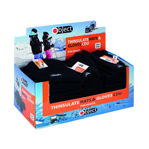 Thinsulate Gloves and Hats Knitted Black (Pack of 24) SP123/4