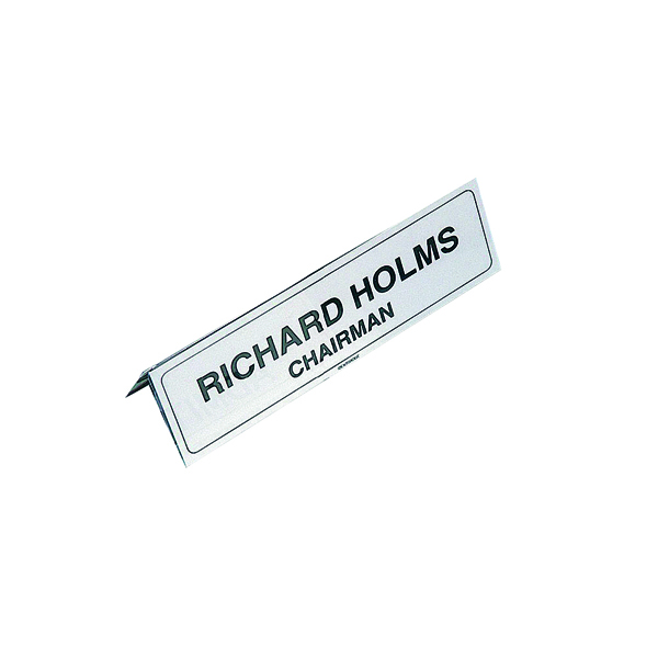 Identibadge Name Place Holder 210x65mm (Pack of 5) IBNP2