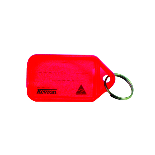 Kevron Plastic Clicktag Key Tag Red (Pack of 100) ID5RED100