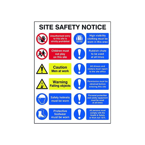 Spectrum Industrial Site Safety Notice FMX 600x800mm 4552