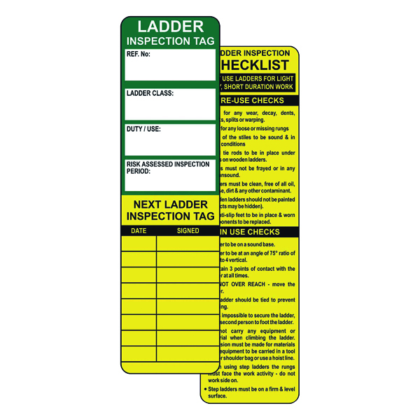 Spectrum Industrial Ladder Tagging System (Pack of 10) TG0410