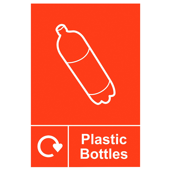Spectrum Industrial Recycle Sign Plasticbottle 150x200mm SAV 18160