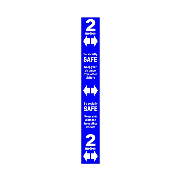 Floor Distance Marker SAV LAM Blue 800x100mm STP177
