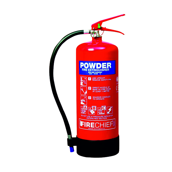 Spectrum Industrial Fire Extinguisher ABC Powder 6kg 14368