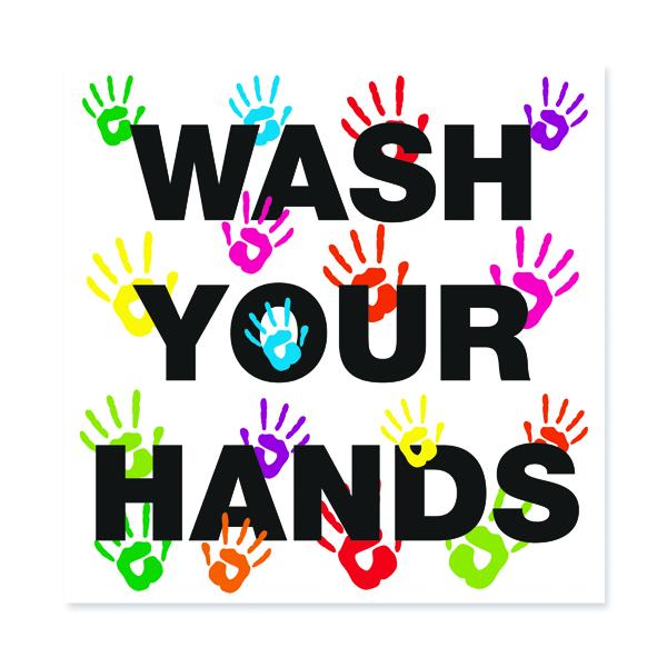 Wash Your Hands 200X200 S/A Vinyl FA066QSAV