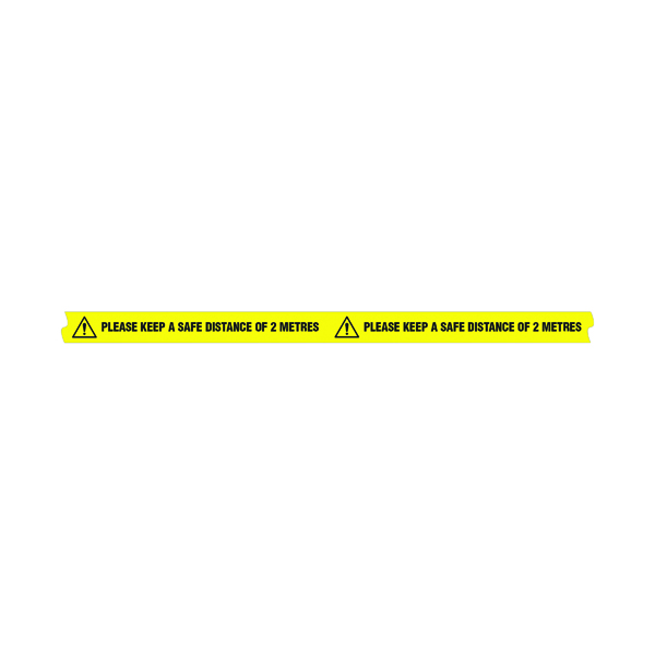 Please Keep A Safe Distance Floor Tape 33M Roll 307DIA100