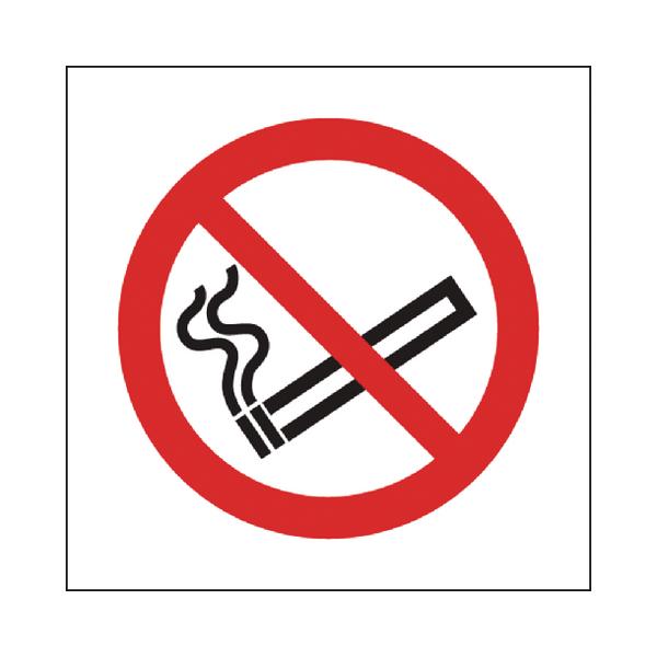 Safety Sign No Smoking Symbol 150x150mm Self-Adhesive P01G/S