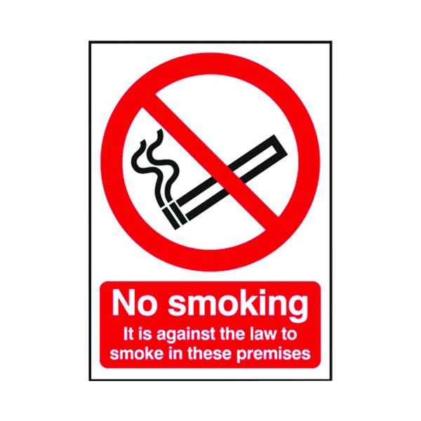 Safety Sign 297x210mm No Smoking Self-Adhesive