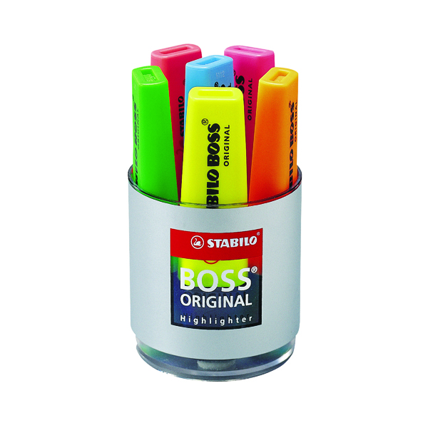 Stabilo Boss Original Highlighter Assorted (Pack of 6) 7006