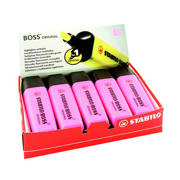 10 x Stabilo Boss Original Highlighter Pink (Line width: 2.0 - 5.0mm) 70/56/10