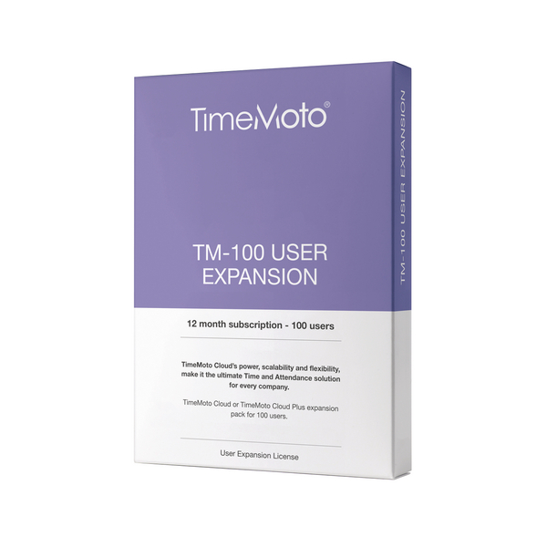 Safescan TimeMoto TM-UEP Cloud Expansion Pack for 100 Users 139-0593