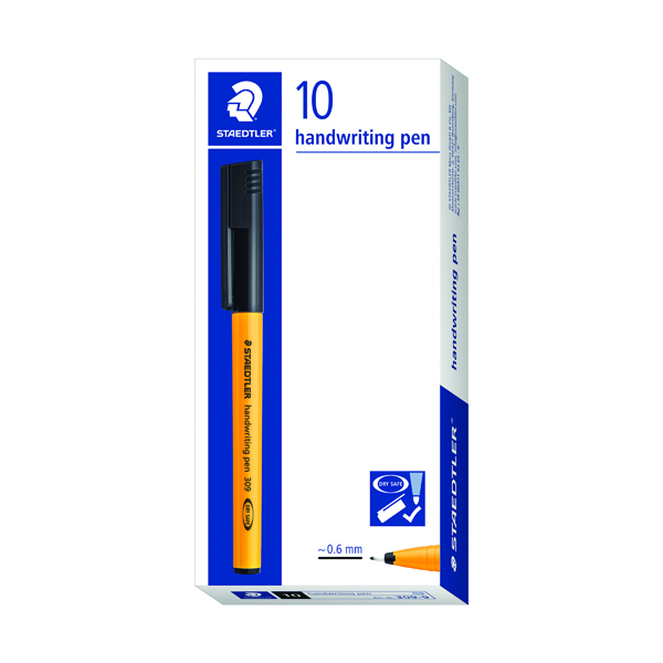 Staedtler Handwriting Fineliner Black (Pack of 10) 309-9
