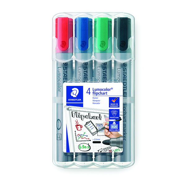 Staedtler Flipchart Marker Assorted (Pack of 4) 356 WP4