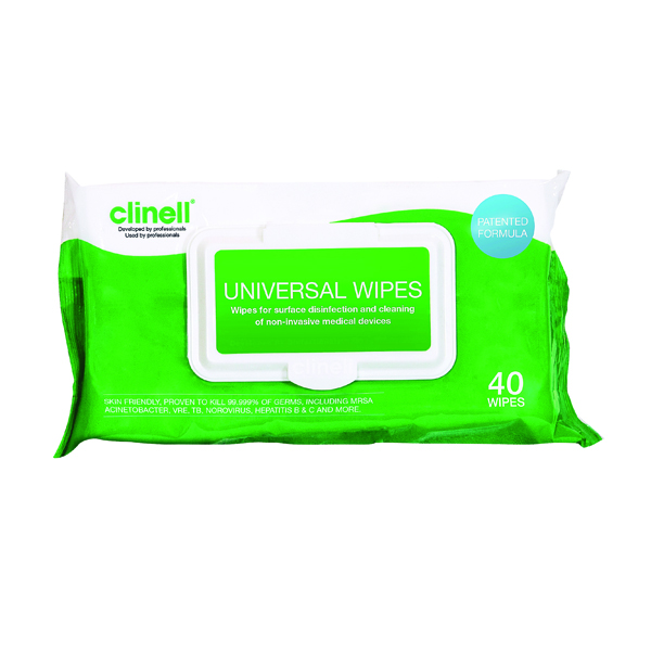 Clinell Universal Sanitising Wipes 40 Sheets (Pack of 24) GCW40