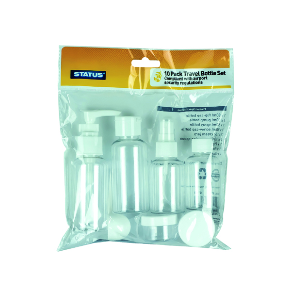 Image for 10-Piece Travel Bottle Set (Pack of 8) STBS10PCX8