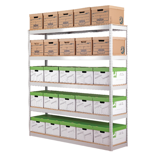 Image for Zamba Stock Archiving Shelving W1800mm Grey STS834557